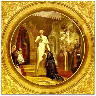 'Teresinha diante do Papa Leão XIII', Aldo Locatelli (1957) - Igreja Santa Teresinha