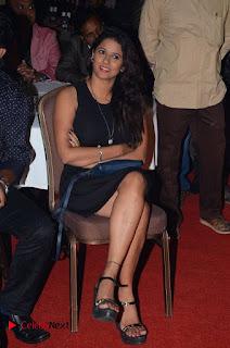 Telugu Tollywood Actress Shravya Reddy Stills in Black Short Dress at Shiva to Vangaveeti RGV Journey Event  0005.jpg