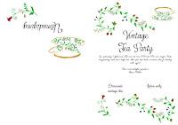Uitnodiging vintage tea party -gratis download