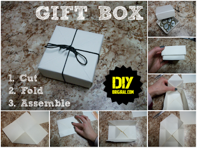 How to make a gift box with no glue and tape
