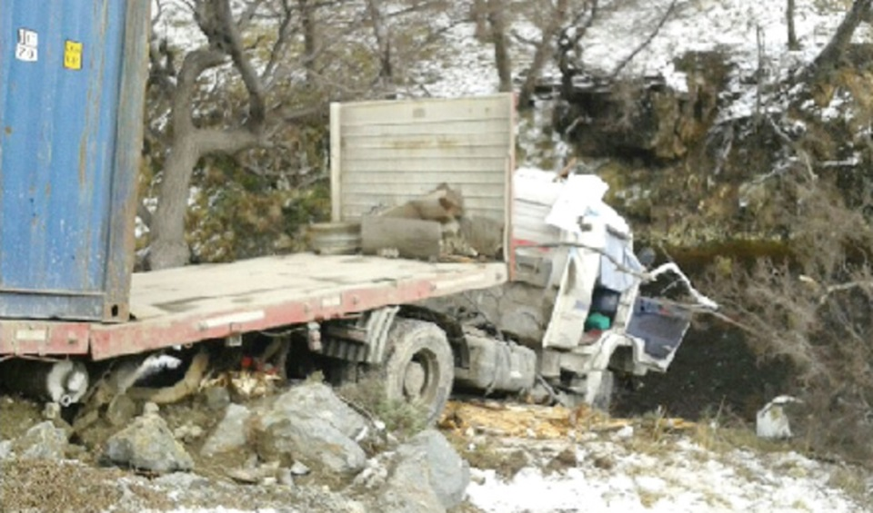 Despiste camion Ruta 3