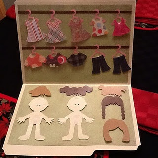 Craft idea for a shoebox gift