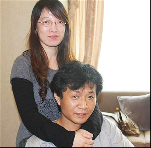 Painter Wanghong Zheng and his wife 苏女士 sū nǚshì, Ms Su