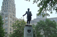 Statue of John Graves Simcoe in Queen's Park by Saharalipour
