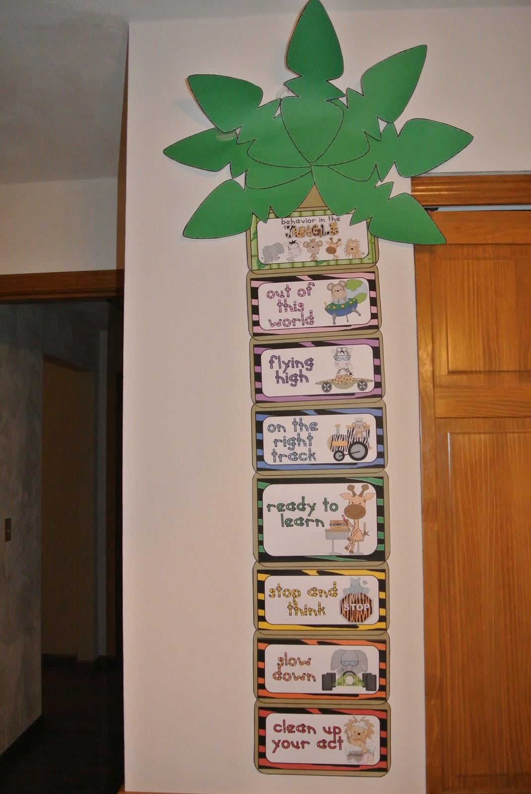 Classroom Decor Jungle ~ Jungle theme clip chart behavior catalog freebie little