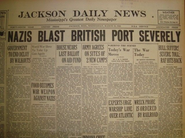 19 March 1941 worldwartwo.filminspector.com Jackson Daily News