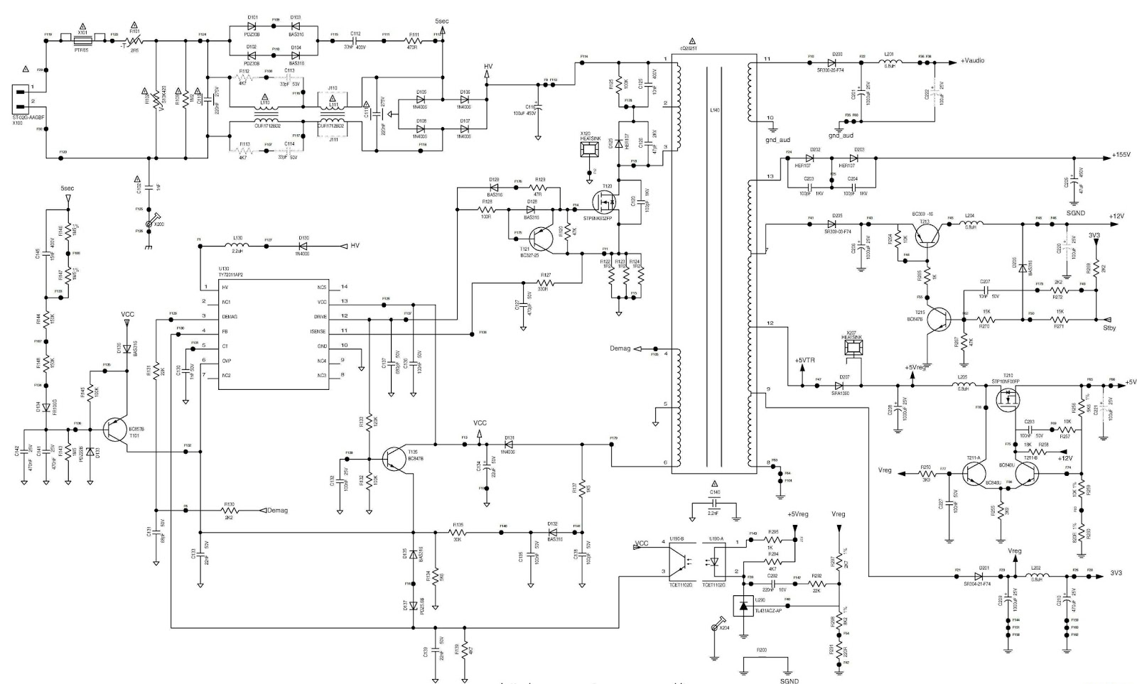 Smps Schematic Diagram 1986 Ford F150 Starter Solenoid Wiring Electro Help Philips 20 Quot Lcd Tv Circuit