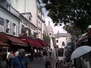 Montmartre Portraitistes et brasseries de la place du Tertre.