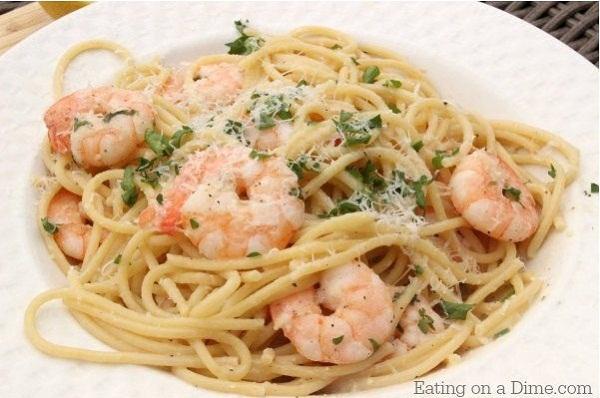 Lemon Garlic Shrimp Scampi Recipe