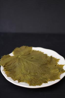 foglie di vite sbollentate