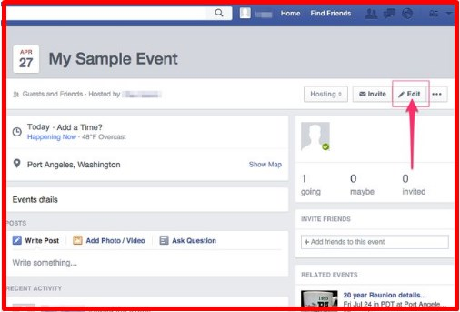 how to make someone a host on facebook event page