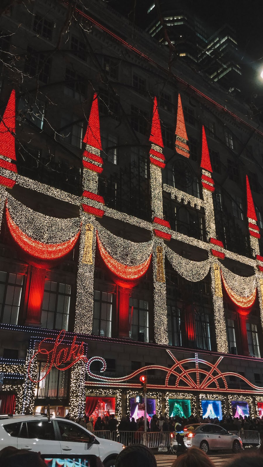Sak's Fifth Avenue Christmas Light Display
