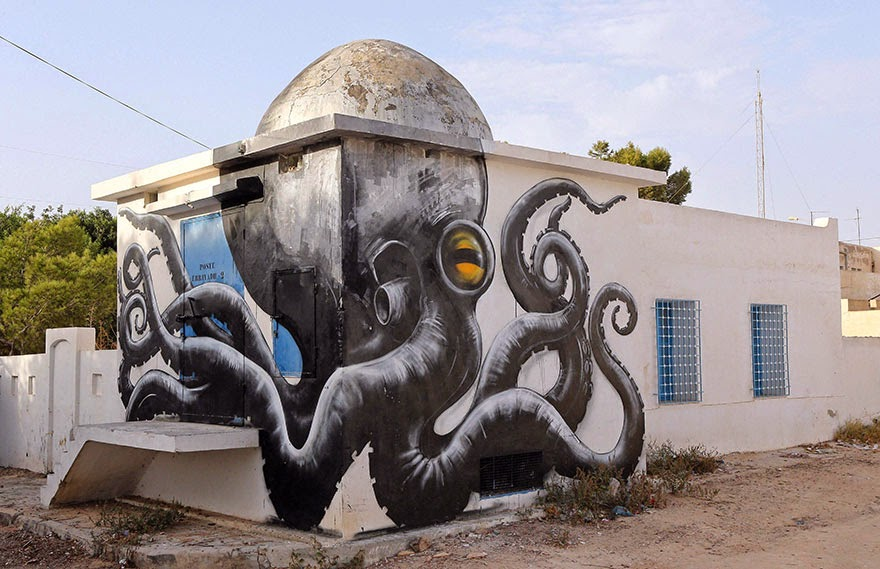 150 Street Artists From 30 Countries Turn Old Tunisian Village Into Outdoor Art Gallery (51 Pics)