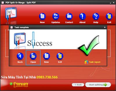 Cắt file PDF với PDF Siplit Or Merge - H08
