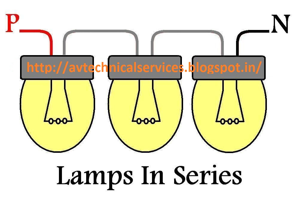 Miraculous How To Wire Lamp Connected In Series Av Technical Services Wiring Cloud Hisonuggs Outletorg