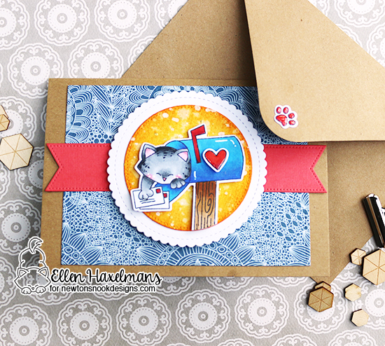 Lucky to Have You Interactive Card by Ellen Haxelmans | Newton's Happy Mail Stamp Set by Newton's Nook Designs