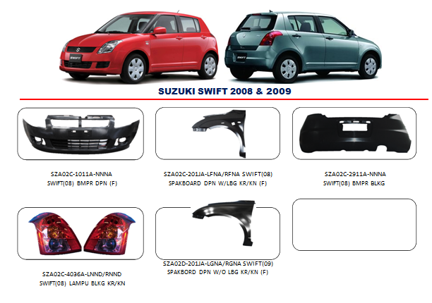 Bemper Suzuki Swift 2008-2009