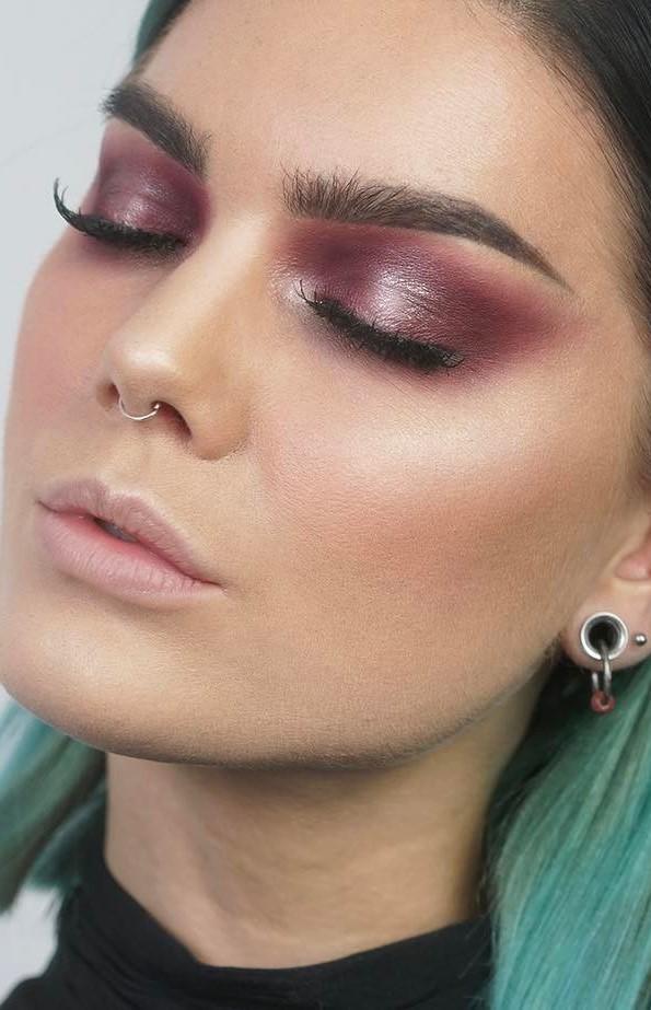 cute glitter makeup idea