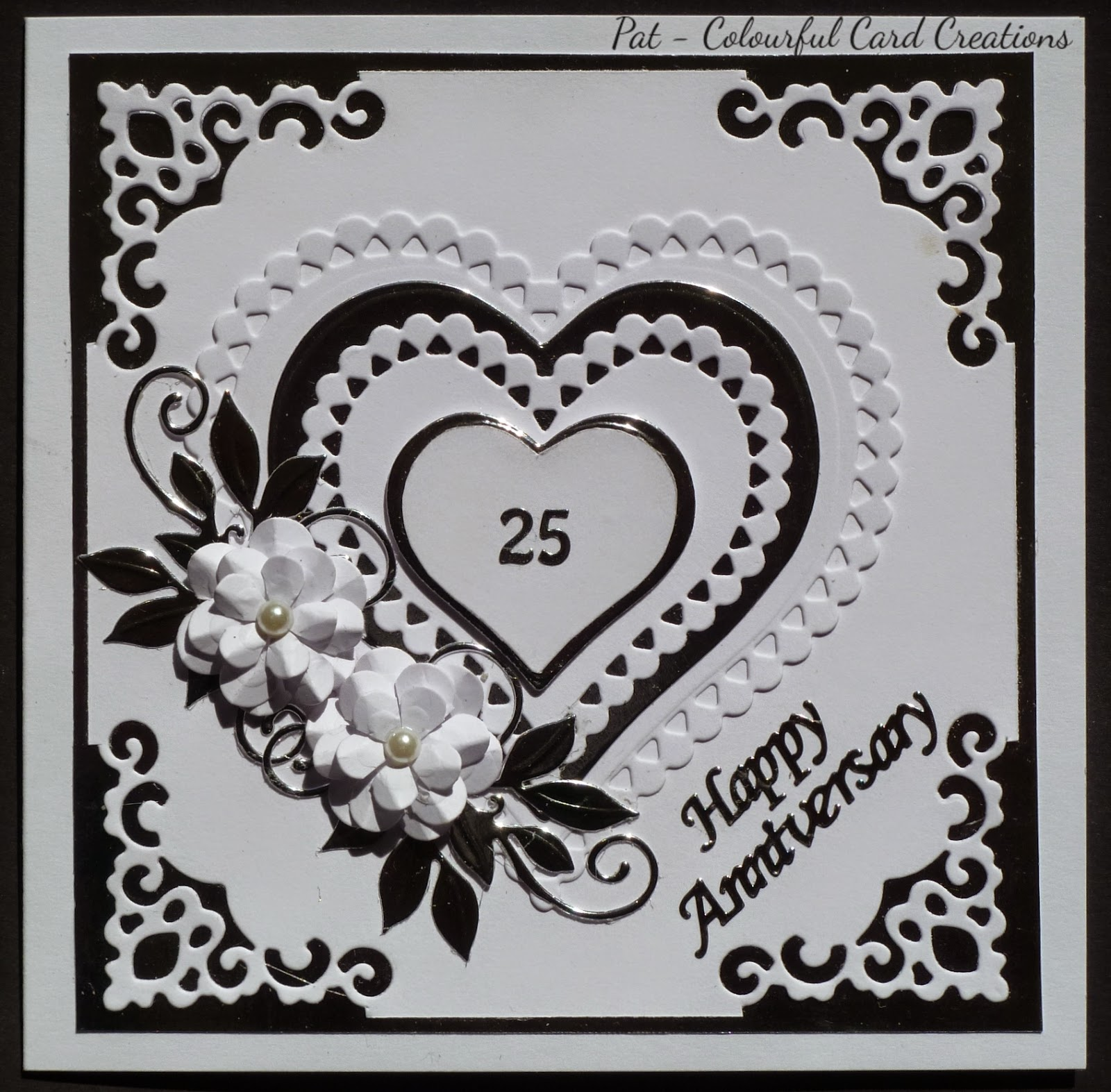 colourful card creations silver wedding anniversary