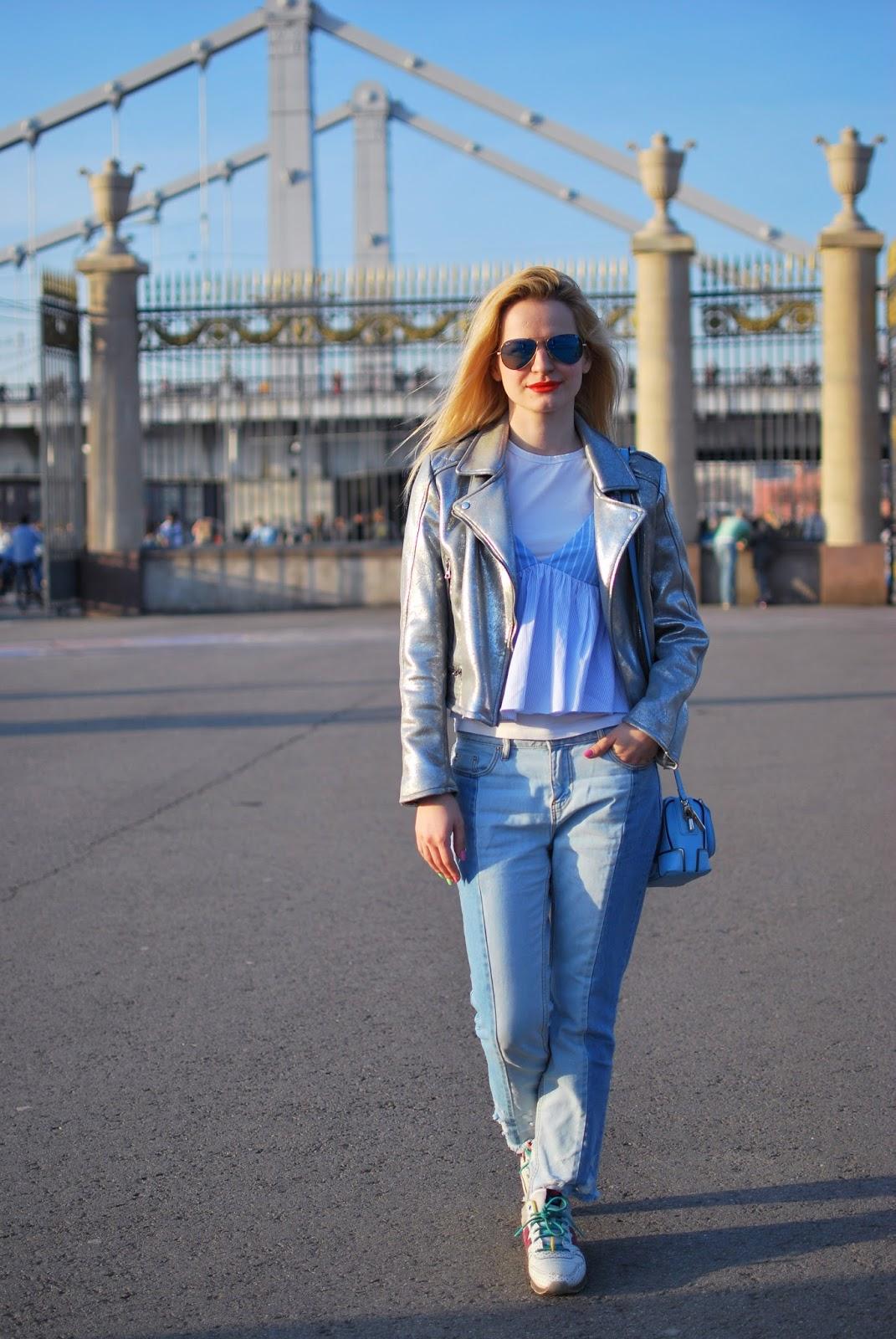 аутфит, модный лук, джинсы, модные тренды