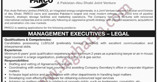 Job in PARCO Pak-Arab Refinery Limited