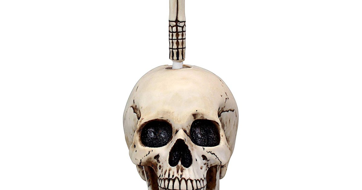 Toilet Brush Head : Skullduggery skeleton toilet brush the bathroom gear for just
