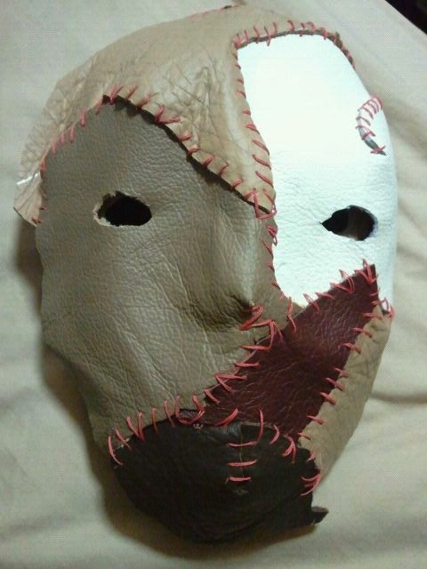 art diary blog  wk12 make leather stitched mask