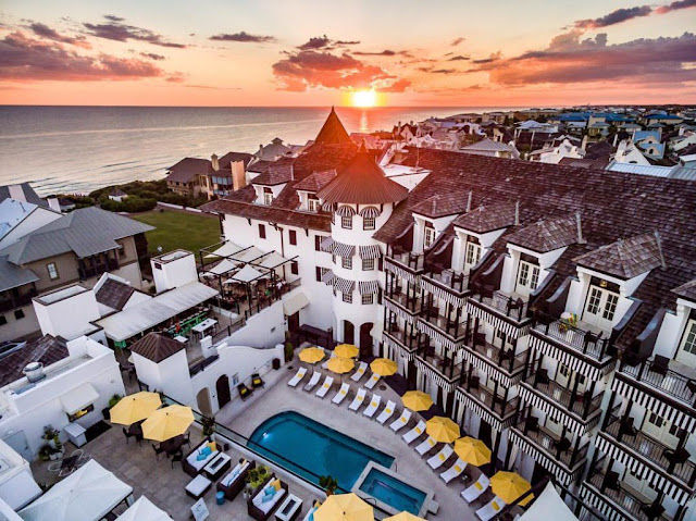 Discover your ideal vacation at The Pearl in Panama City Beach! Book your stay at this vibrant luxury hotel with stunning architecture and views of Rosemary Beach, Florida.