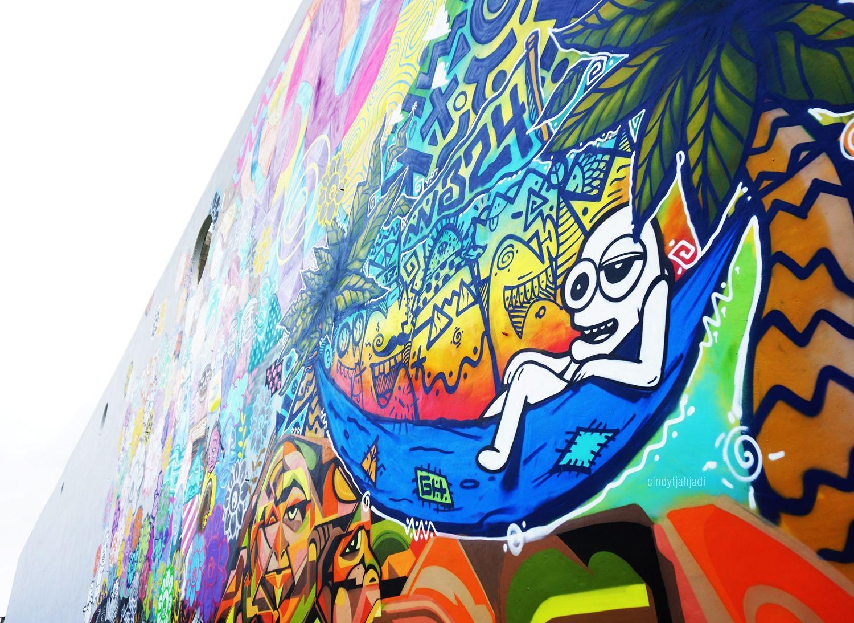 Jakarta has a green rptra kalijodo cindy tjahjadi for Mural kalijodo