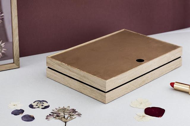 Boite de rangement maquillage en bois design