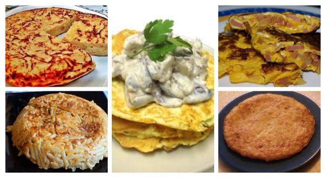 5 recetas de tortillas diferentes