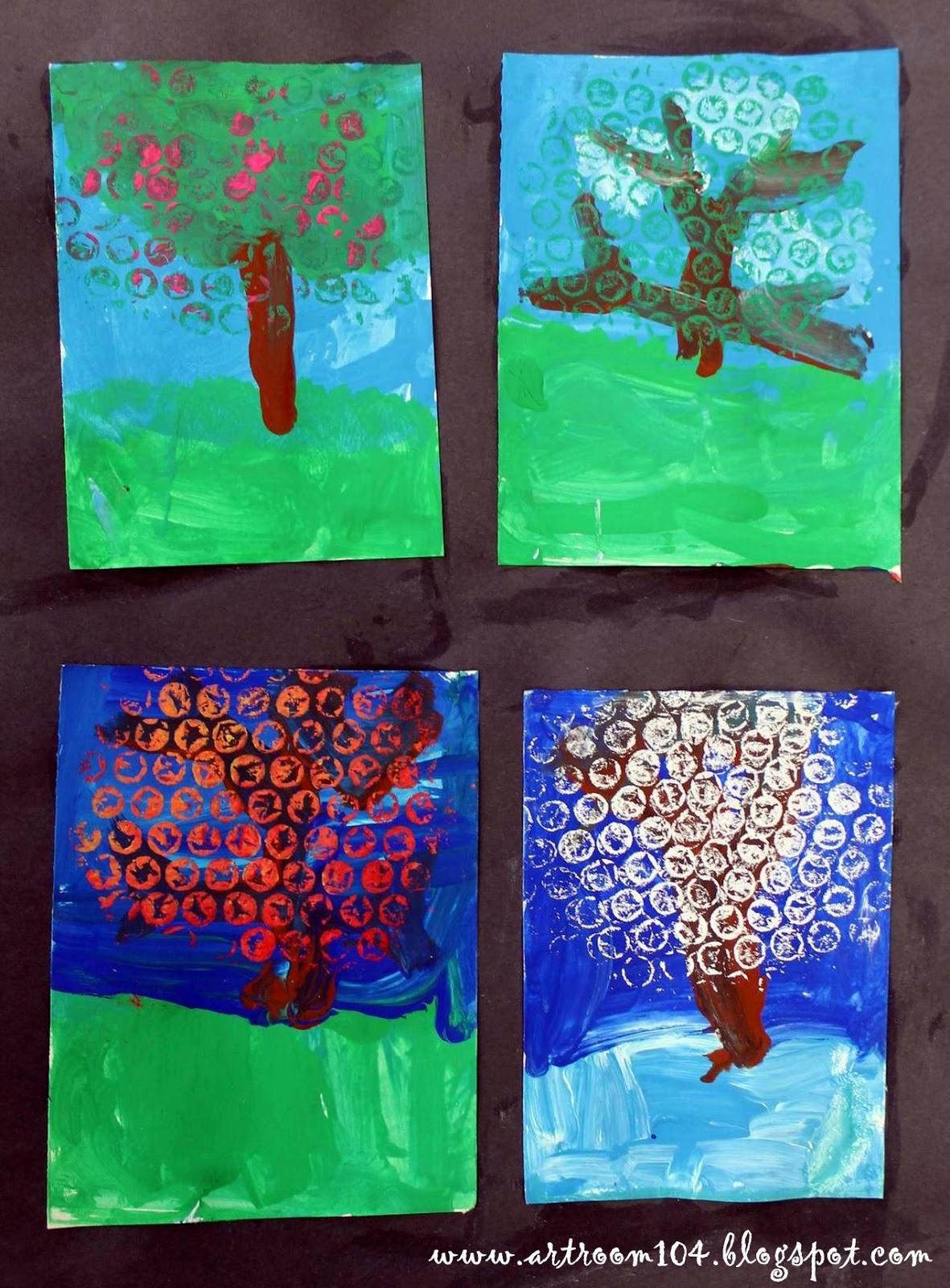 Art Room 104 Kindergarten Four Seasons Project