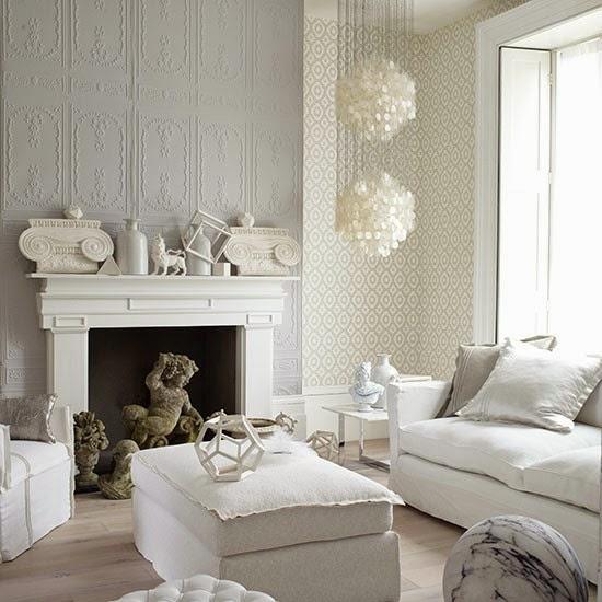 sala decorada con blanco