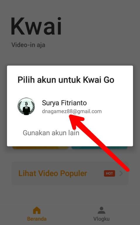 """Silahkan tunggu beberapa detik dan akan muncul akun Google yang tertaut di perangkat Smartphone Anda. Silahkan pilih salah satu akun Google dan pilih """"Izinkan"""""""