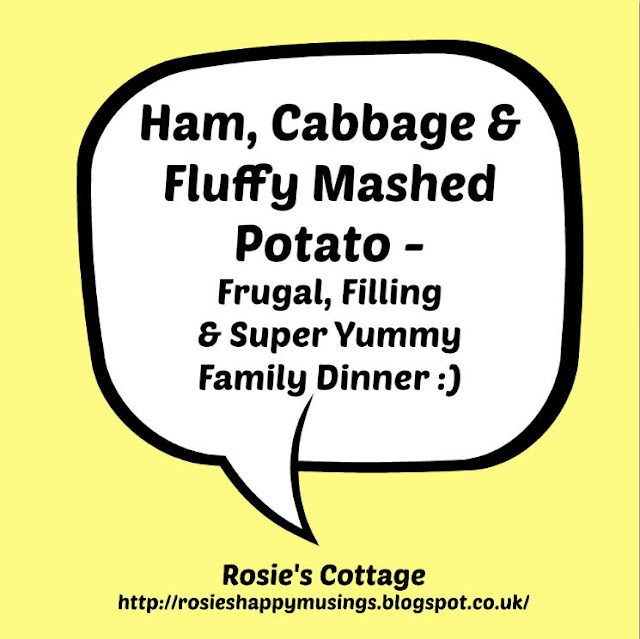 Ham Cabbage & Fluffy Mashed Potato
