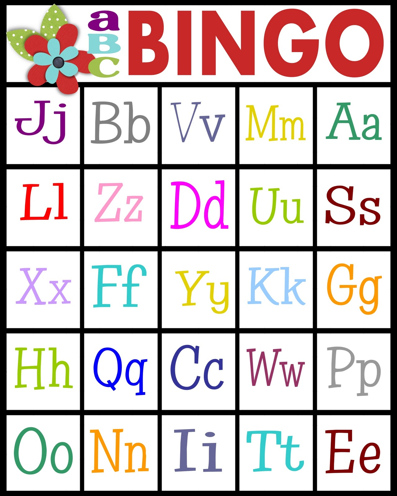 Sassy Sanctuary Abc S Bingo Free Printable