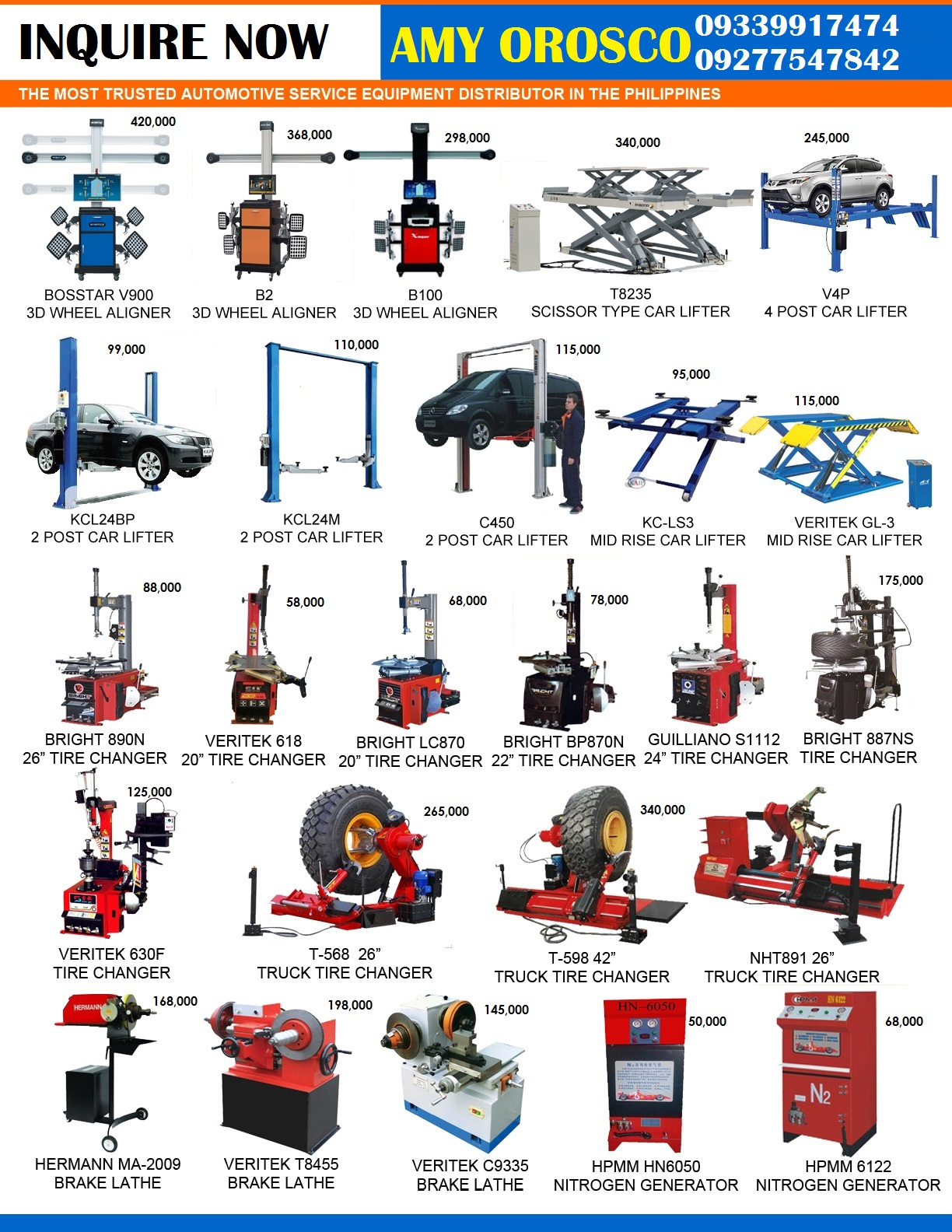 All in One Automotive Shop Service Equipment