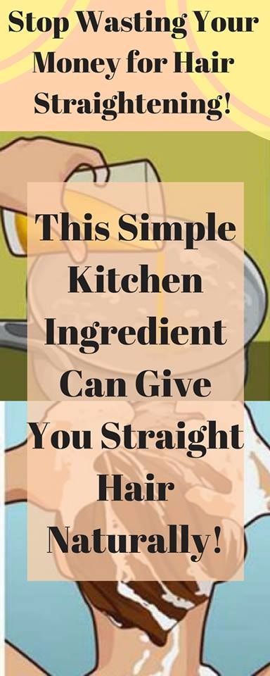 STOP WASTING YOUR MONEY FOR HAIR STRAIGHTENING! THIS SIMPLE KITCHEN INGREDIENT CAN GIVE YOU STRAIGHT HAIR NATURALLY!
