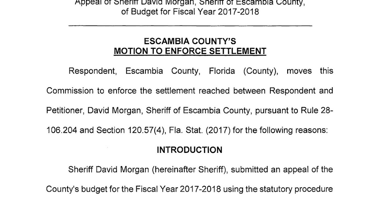 Jeff Bergosh Blog County Files Motion To Enforce Mediation