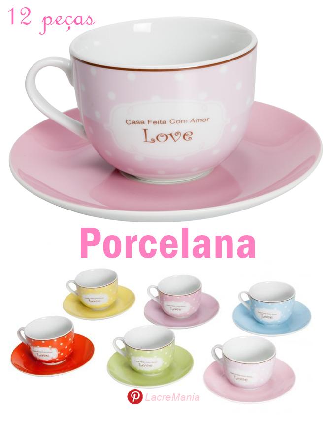 Xícara de porcelana para chá
