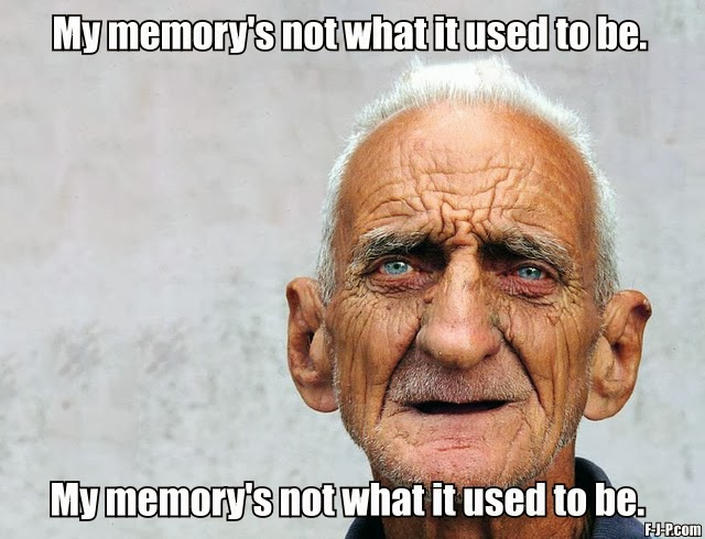 Funny Old Man Joke Picture - My memory's not what it used to be