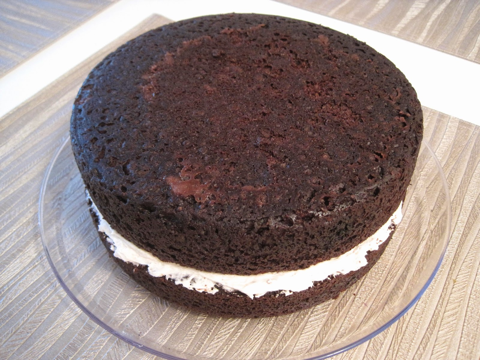 Gluten-Free Vegan Chocolate Cake with Vanilla Frosting Layer Veega Blog