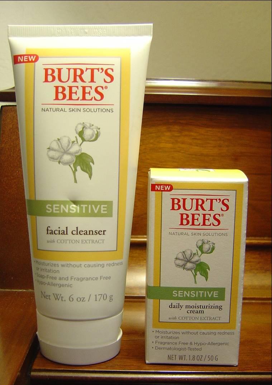 Sensitive skin facial cleanser & daily moisturizer