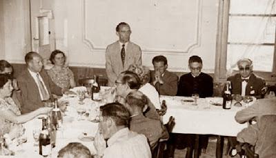 Comida homenaje a los jugadores del Torneo de Ajedrez de La Pobla de Lillet 1957