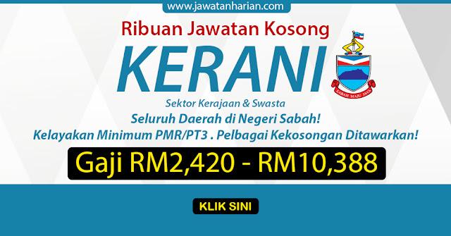 Terkini Ribuan Jawatan Kosong Kerani Di Sabah Mobile