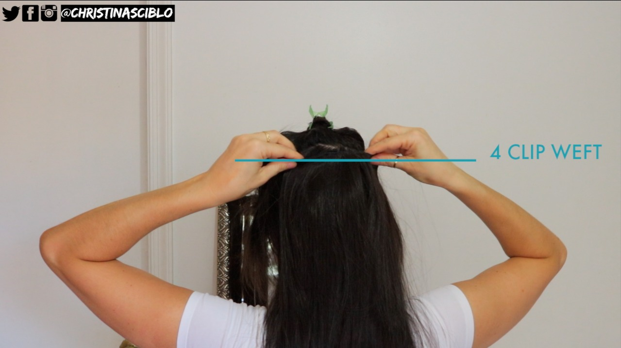Hello Crisst How To Clip In Your Hair Extensions Five Minute