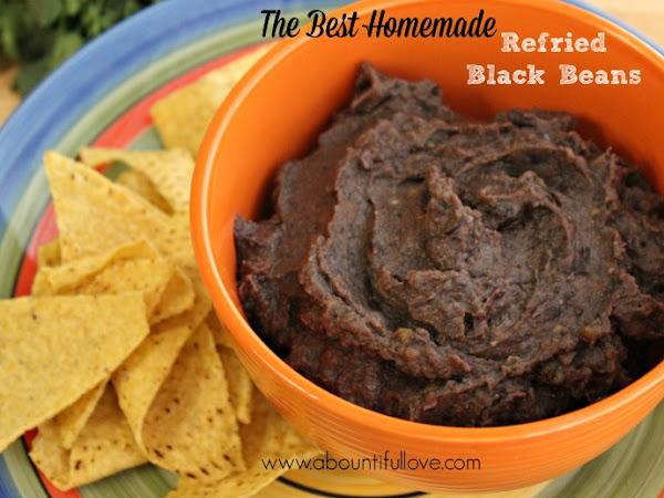 The Best Homemade Refried Black Beans