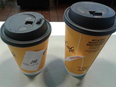 McDonald's Americano and Hot Tea Cups