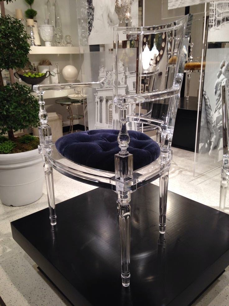 Lucite furniture for interiors