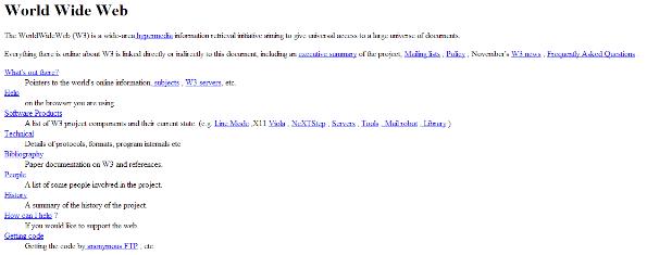 website pertama didunia